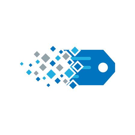 Tag Pixel Logo Icon Design