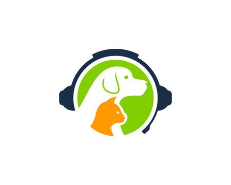 Animal Podcast Logo Icon Design