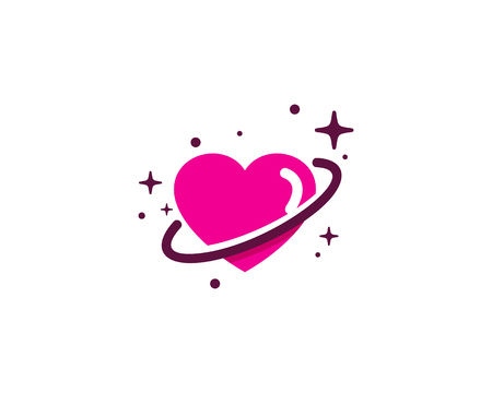 Love Planet Logo Icon Design
