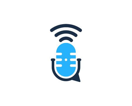 Talk Podcast Logo Icon Design