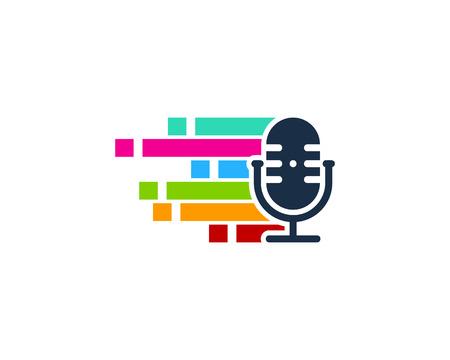 Pixel Podcast Logo Icon Design
