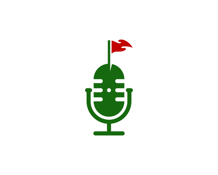 Flag Podcast Logo Icon Design