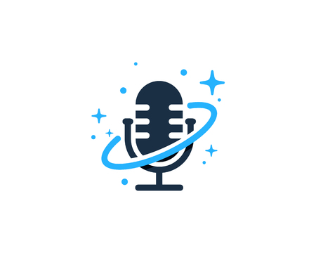 Podcast Planet Logo Icon Design Imagens - 101826656