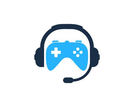 Conception d'icône de logo de podcast de console Logo