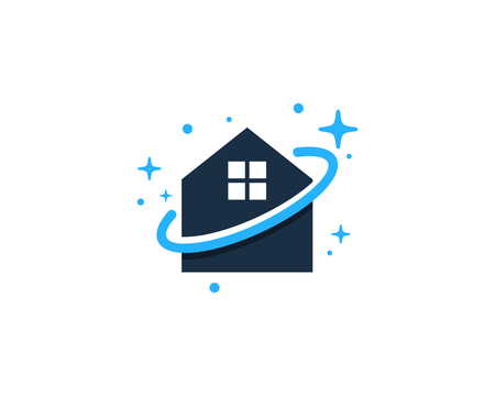 Home Planet Logo Icon Design Stock fotó - 101826696
