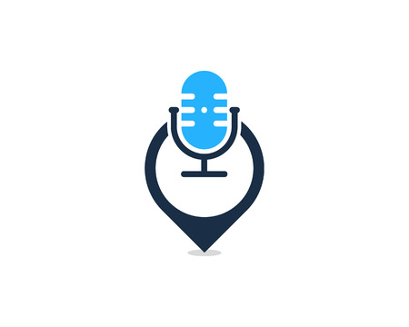 Pushpin Podcast Logo Icon Design