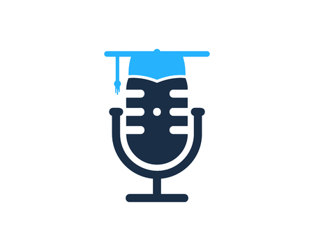 School Podcast Logo Icon Design Banco de Imagens - 101826959