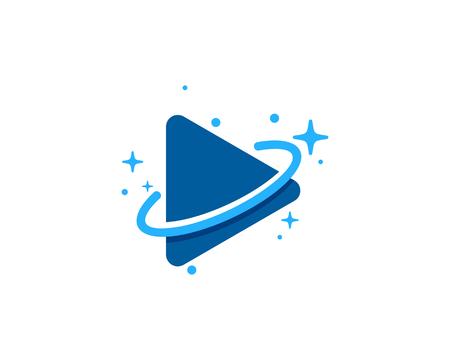 Video Planet Logo Icon Design Çizim