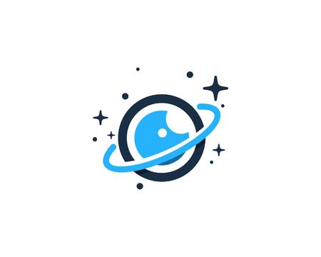 Vision Planet Logo Icon Design