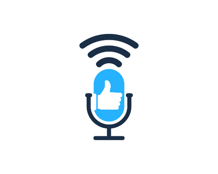 Best Podcast Logo Icon Design Stock Vector - 101827057