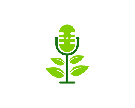 Eco Podcast Logo Icon Design Illustration