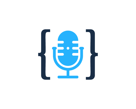 Code Podcast Logo Icon Design 写真素材 - 101827197