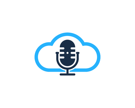 Cloud Podcast Logo Icon Design