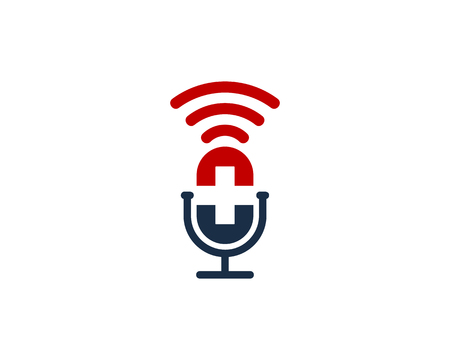 Medical Podcast Logo Icon Design