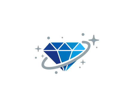 Diamond Planet Logo Icon Design