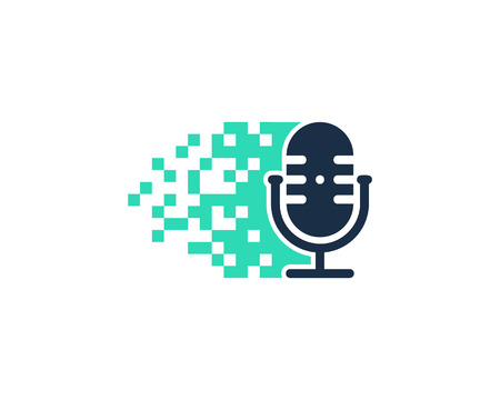 Pixel Podcast Logo Icon Design