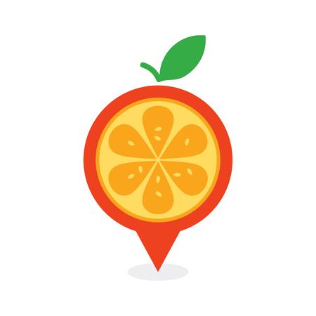 Fruit Point Logo Icon Design 版權商用圖片 - 101827629