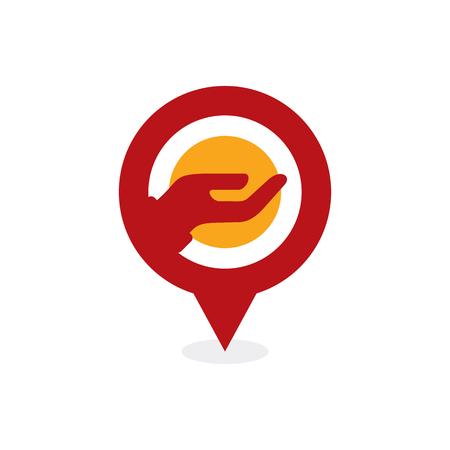 Care Point Logo Icon Design 版權商用圖片 - 101827632