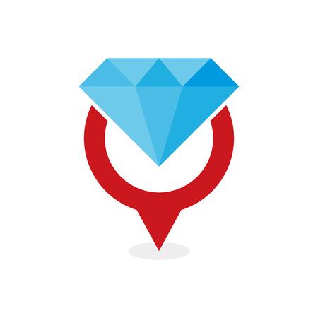 Diamond Point Logo Icon Design