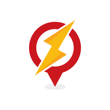 Energy Point Logo Icon Design Ilustrace
