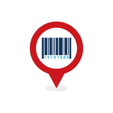 Barcode Point Logo Icon Design Banque d'images - 101827677