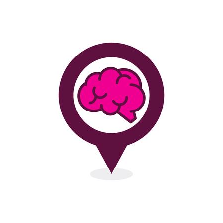 Brain Point Logo Icon Design Archivio Fotografico - 101828058