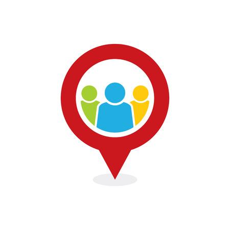 Team Point Logo Icon Design Illustration