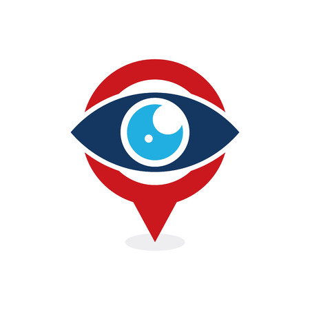 Vision Point Logo Icon Design Illustration