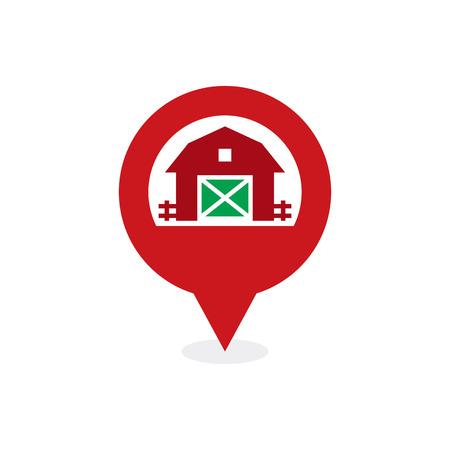 Farm Point Logo Icon Design