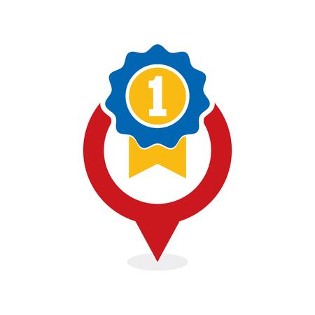 Best Point Logo Icon Design Illustration