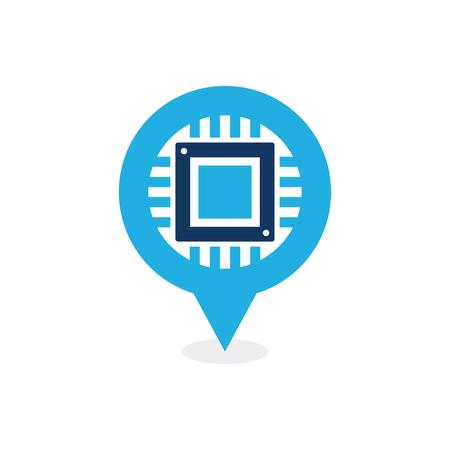 Chip Point Logo Icon Design 版權商用圖片 - 101827839