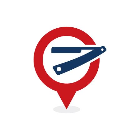 Barber Point Logo Icon Design