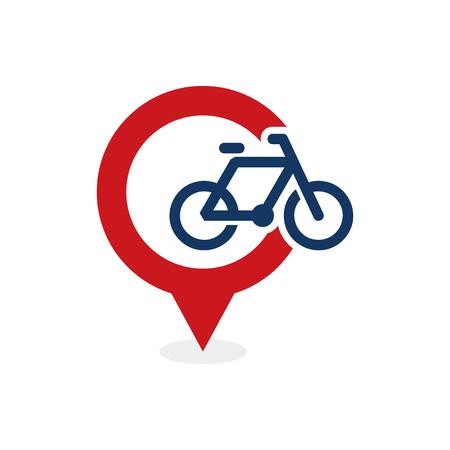Bike Point Logo Icon Design Stock Illustratie