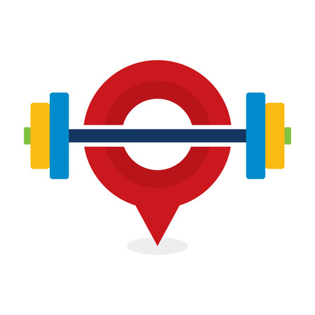 Barbell Point Logo Icon Design