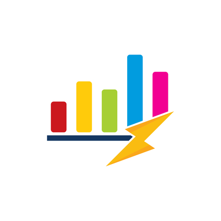 Graph Power Energy Logo Icon Design