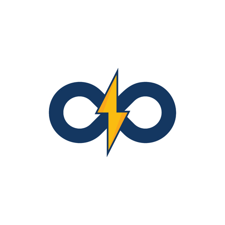 Infinity Power Energy Logo Icon Design