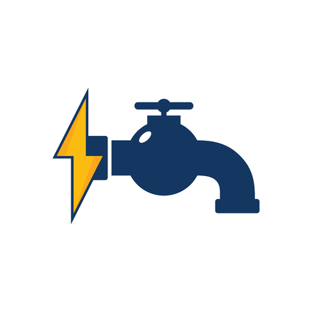 Plumbing Power Energy Logo Icon Design