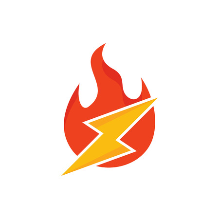 Fire Power Energy Logo Icon Design