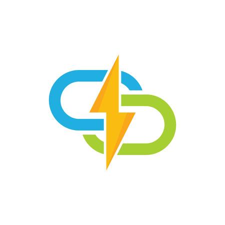 Connect Power Energy Logo Icon Design Illustration