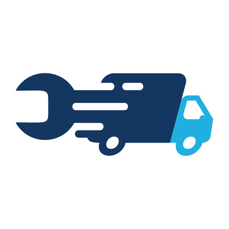 Delivery Repair Logo Icon Design