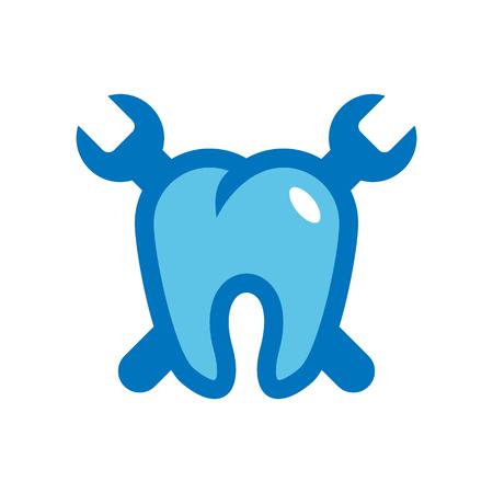 Riparazione dentale Logo Icon Design
