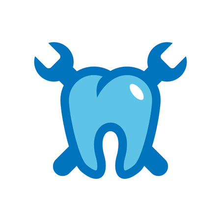 Dental Repair Logo Icon Design