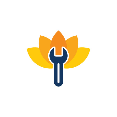 Lotus Repair Logo Icon Design 写真素材 - 101828581