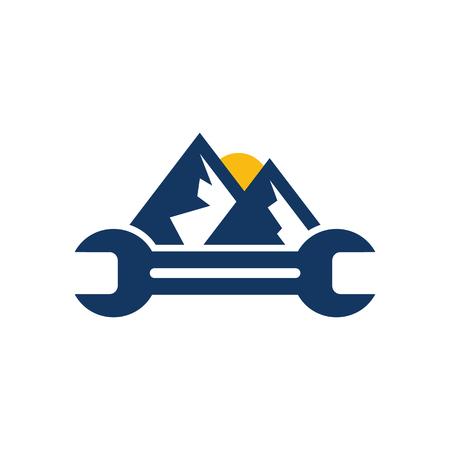 Mountain Repair Logo Icon Design