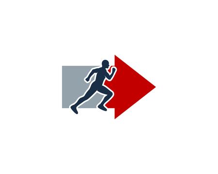 Arrow Run Logo Icon Design