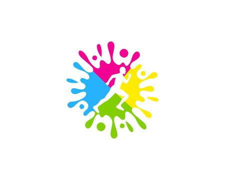 Art Run Logo Icon Design 일러스트