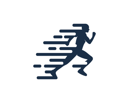 Movement Run Logo Icon Design