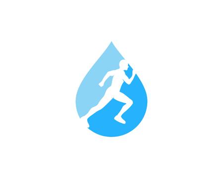 Liquid Run Logo Icon Design
