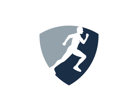 Guard Run Logo Icon Design Illustration