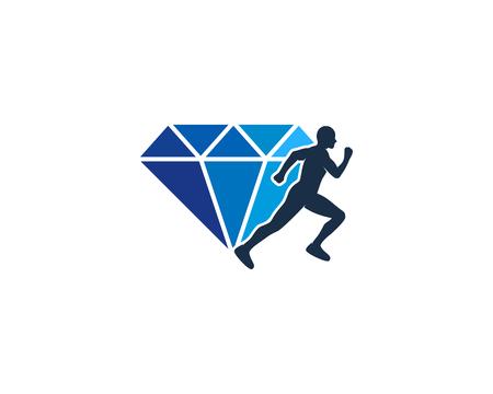 Diamond Run Logo Icon Design